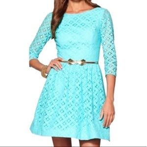 Lilly Pulitzer Lori Shorely Blue Lace Dress